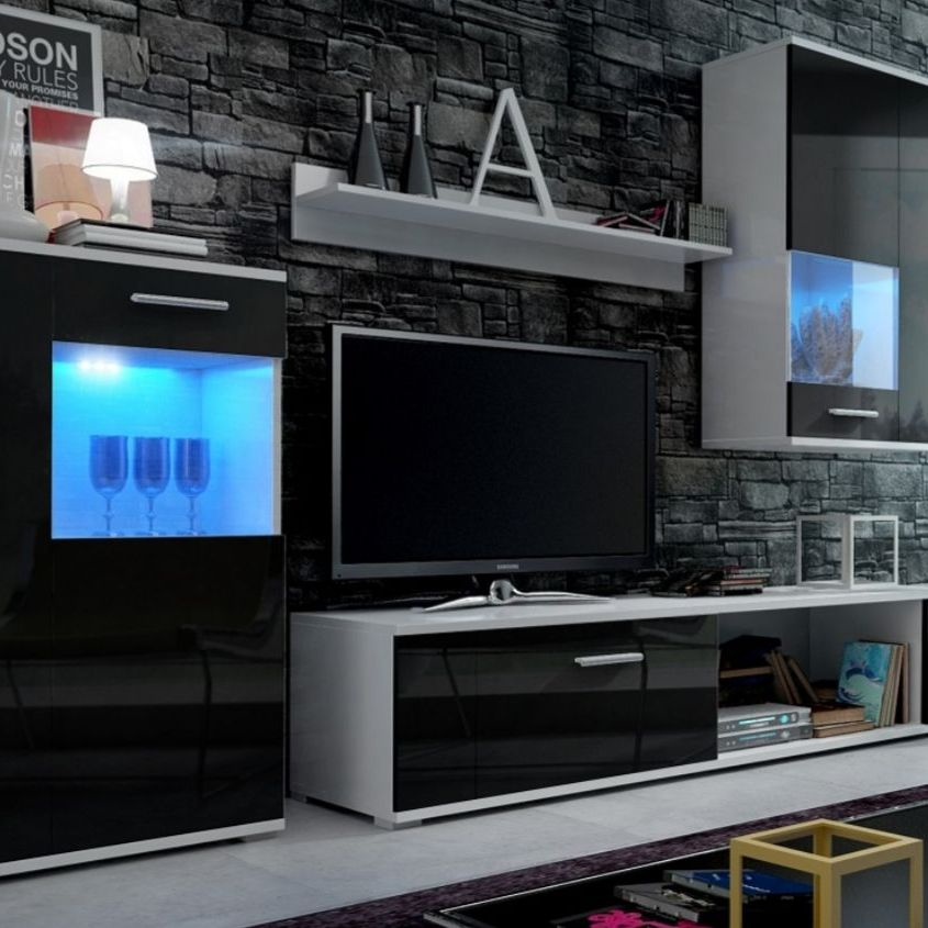 2 high gloss cabinets