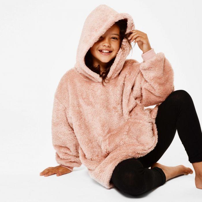Children's Teddy Fleece Hooded Blanket