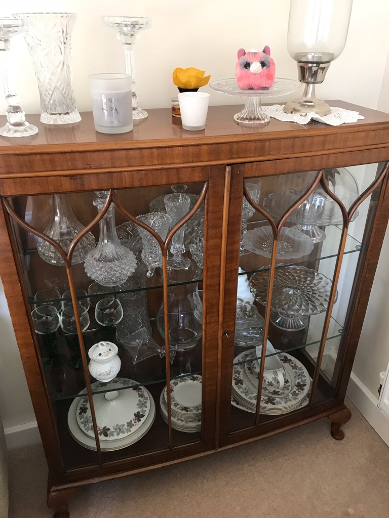 Glass cupboard or glass display cabinet