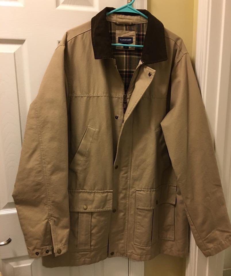 Land's End, Men's Barn Coat, Size XL