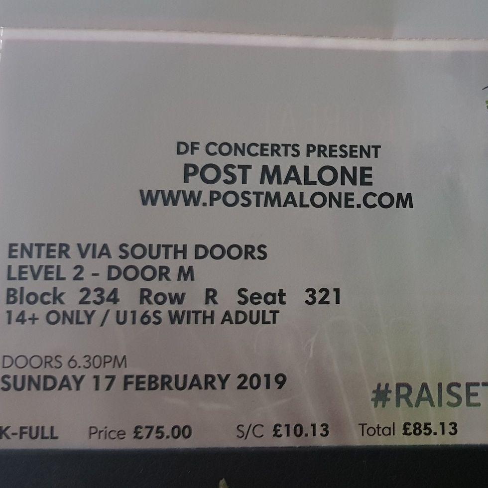 Post Malone Ticket