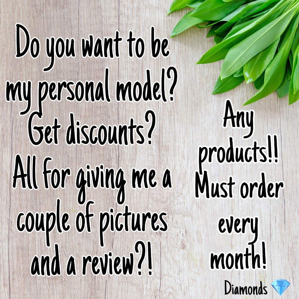 Model/Product Tester‼️