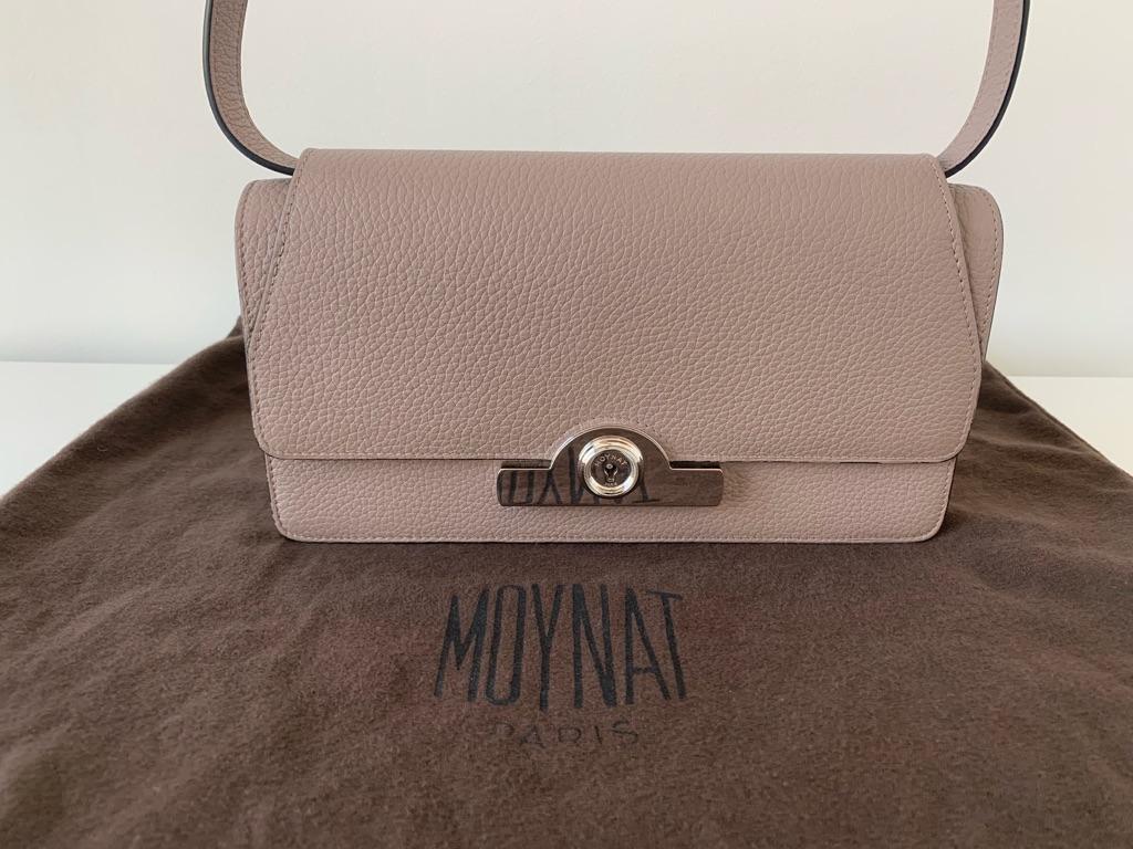 MOYNAT, Rejane PM Clutch, Etoupe+Silver