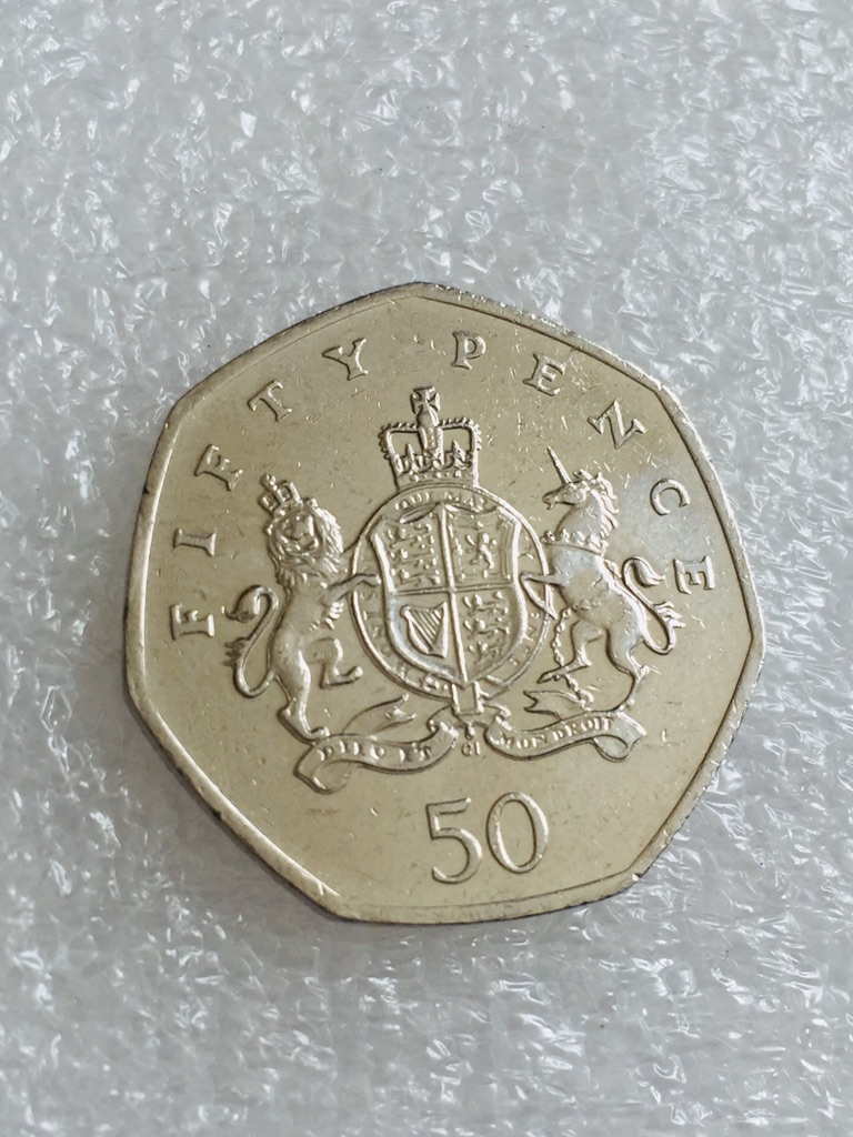 50p coin lronsides christopher 2013.