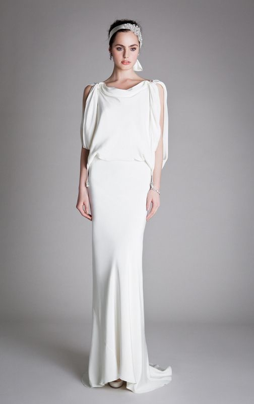 Alice Temperley 'Draped Scarlett' wedding dress. 2012. Perfect for boho or vintage-inspired brides.
