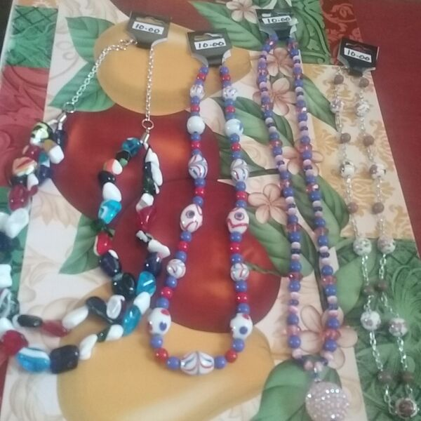 Asorted necklaces 22 inches to 27 inches. 10.00 each