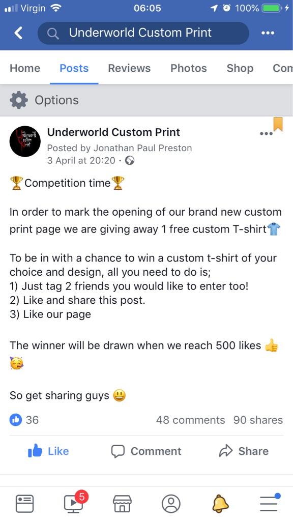 WIN a Free Custom Print T-shirt / Top