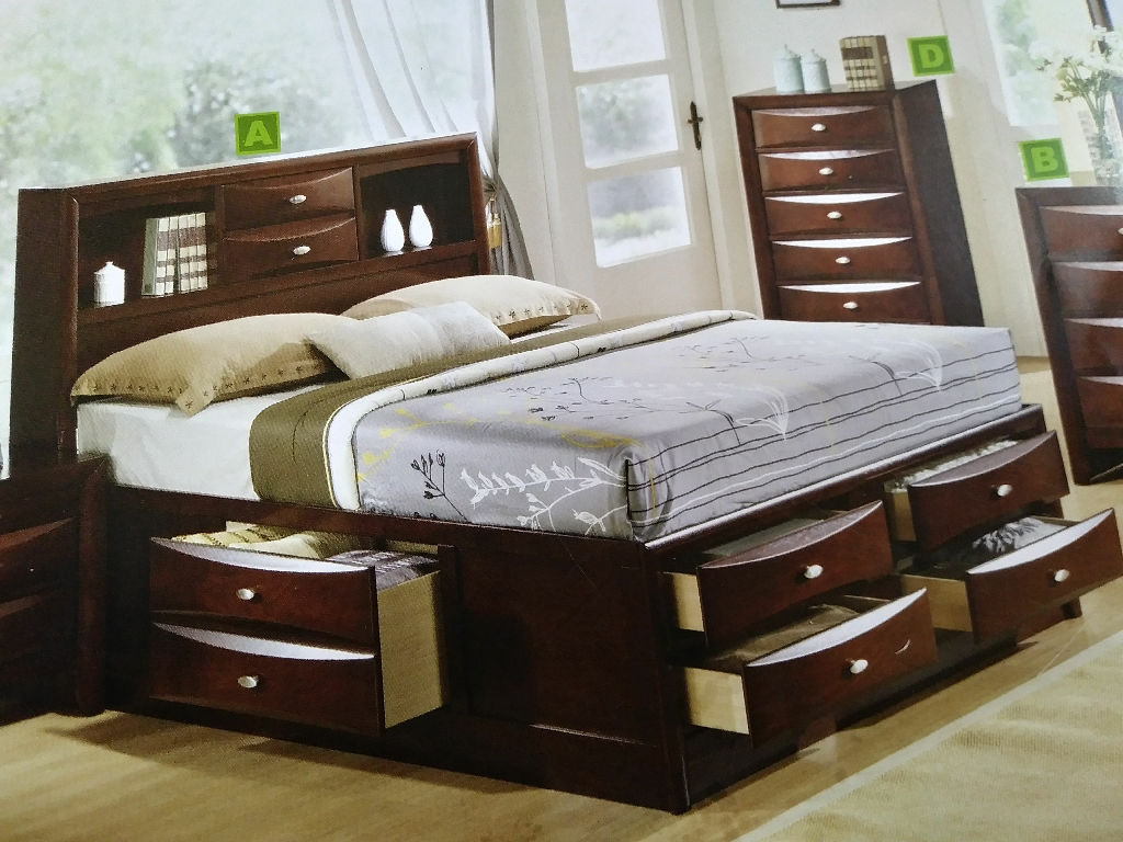 Ridgemont Queen Bed ( Available in King)