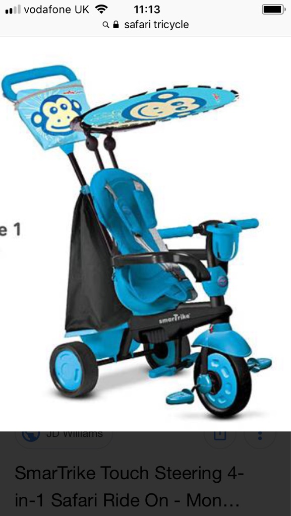 Safari Smart Tricycle in blue NEW