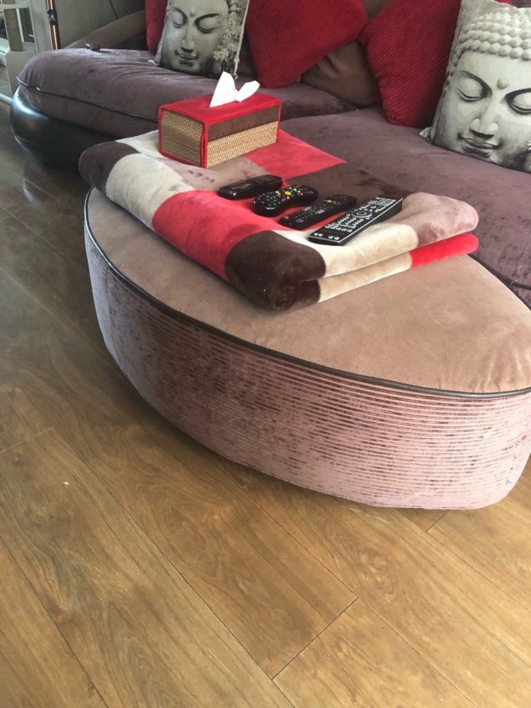 4 seater couch and large foot stool