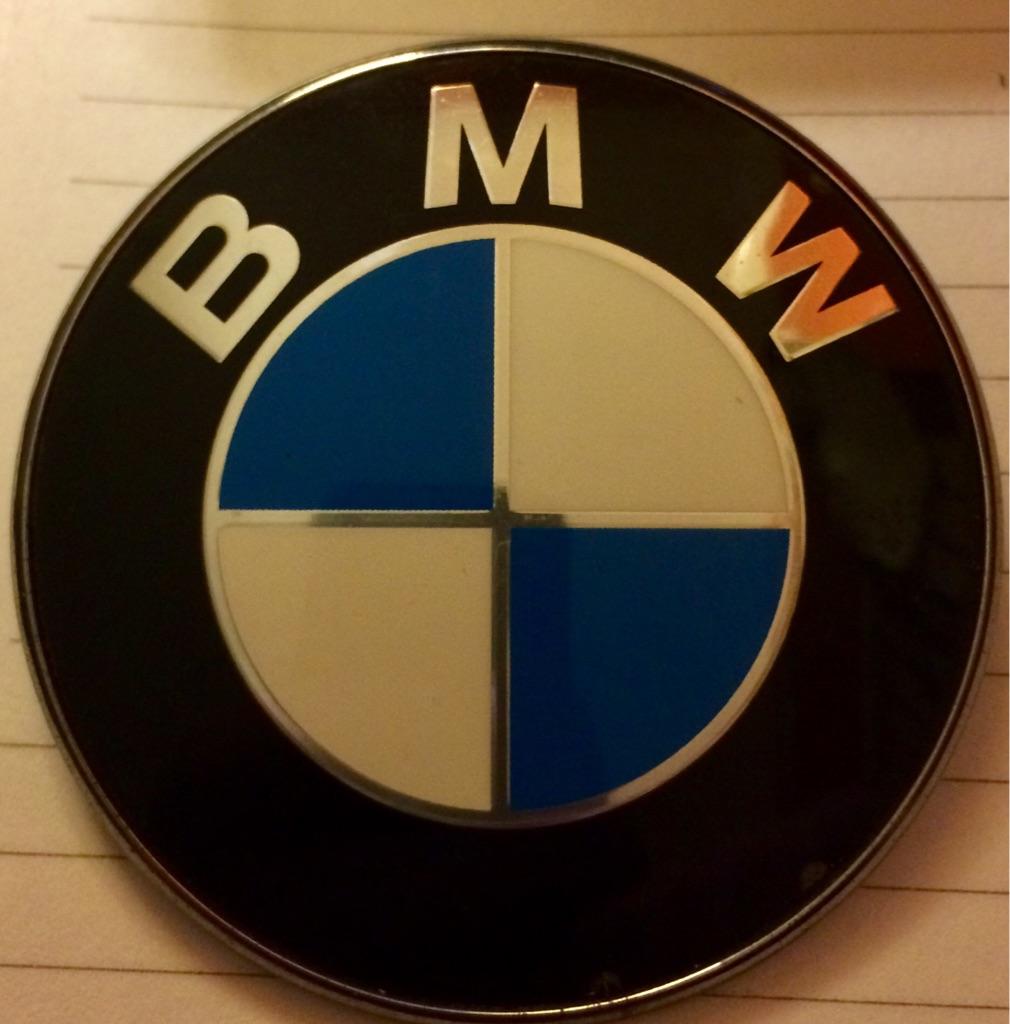 BMW car badge