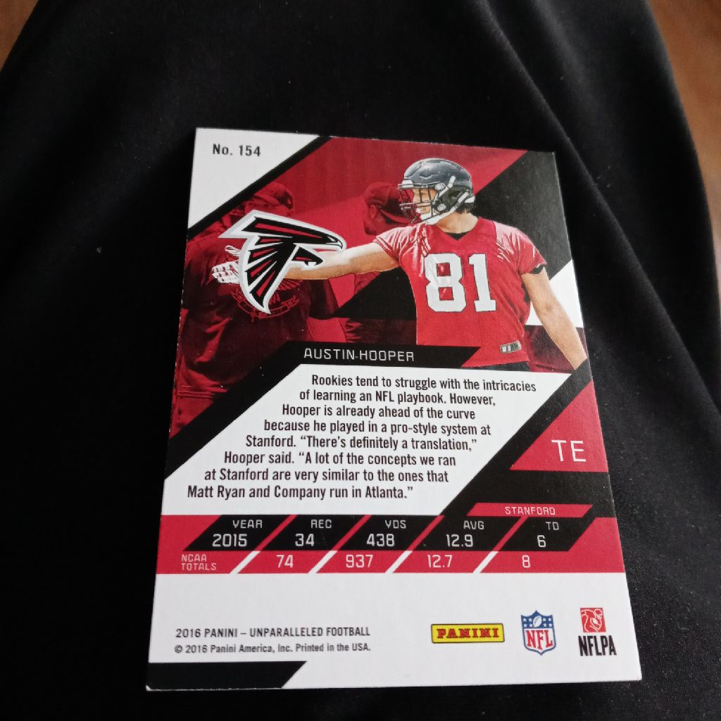 2016 AUSTIN HOOPER NFL CARD