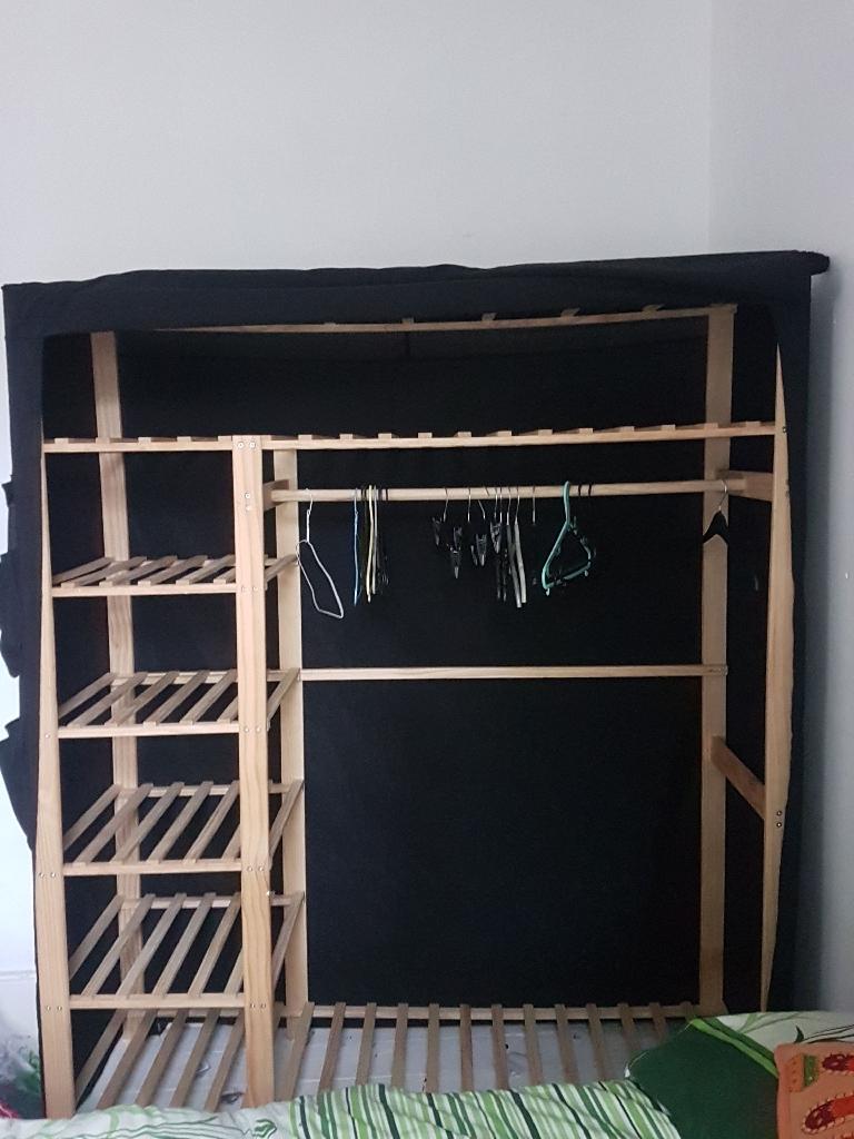 Black triple wardrobe, perfect conditions