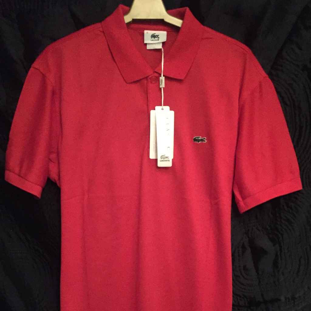 BNWT Red Lacoste Classic Polo Shirt