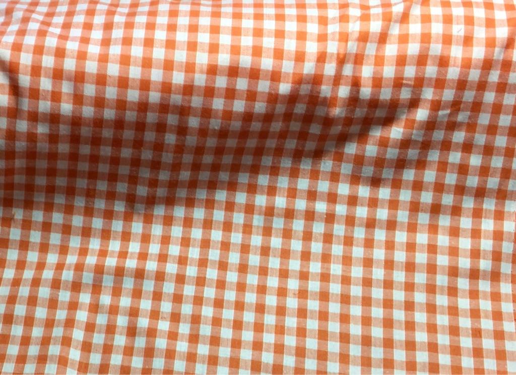 Fabric  gingham ORANGE