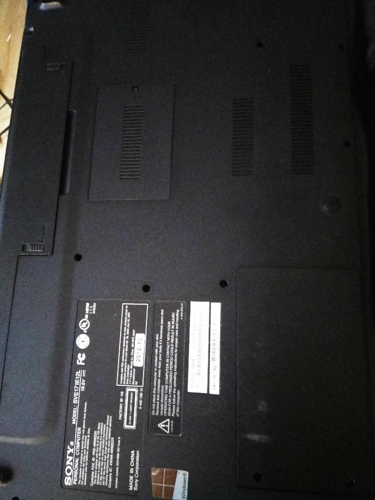 Sony Vaio laptop 17 inch