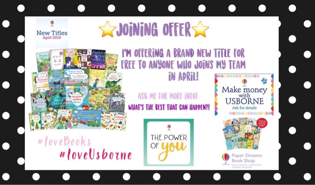 Usborne Books joining offer