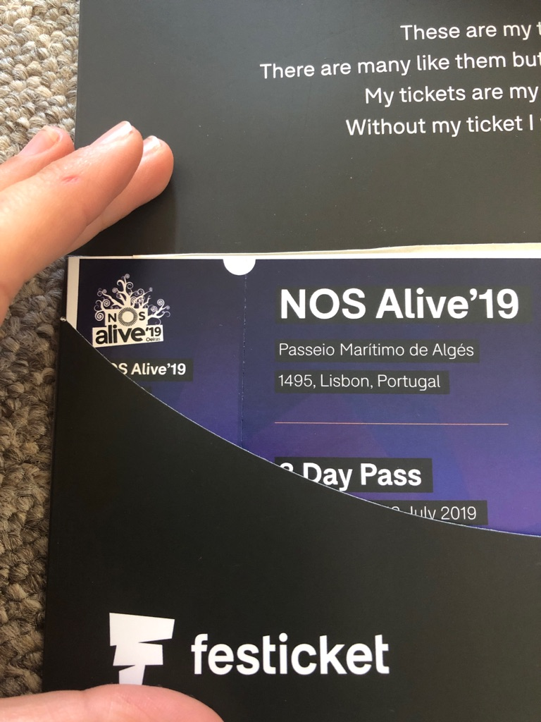 NOS Alive festival tickets