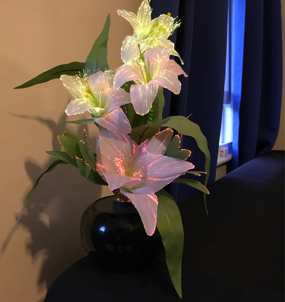 Fibre optic lilies