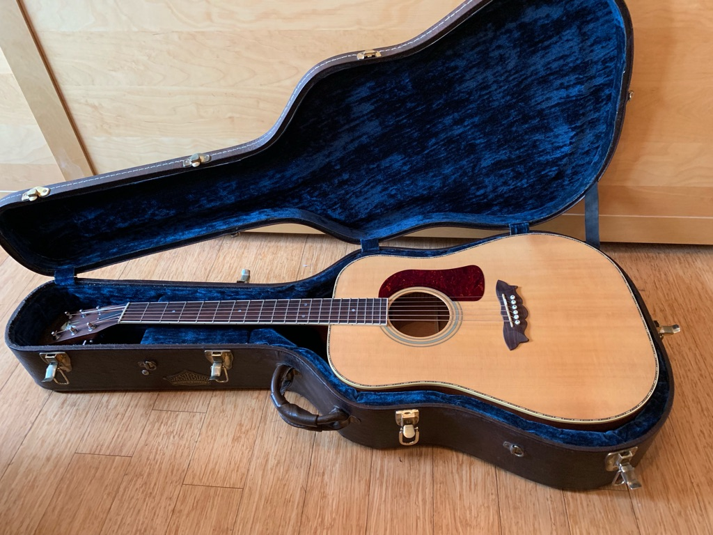 Washburn Acoustic Guitar and Hardcase Made in USA