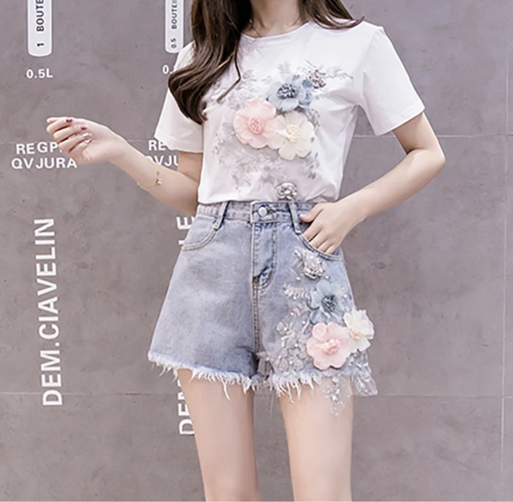 Women's top and shorts set