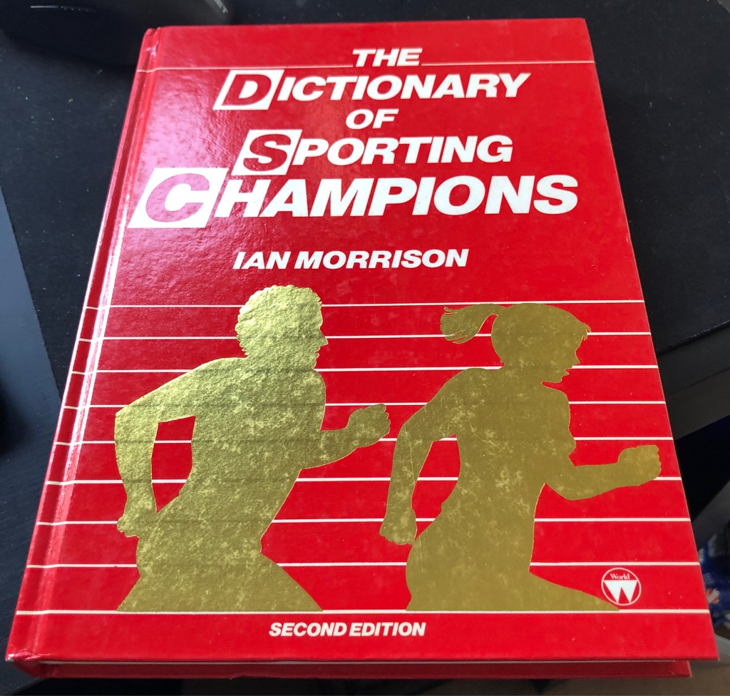 DICTIONARY OF SPORTING CHAMPIONS BOOK