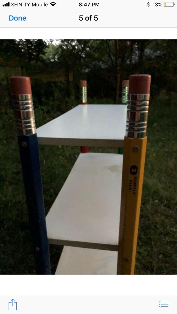 Kids pencil shelves