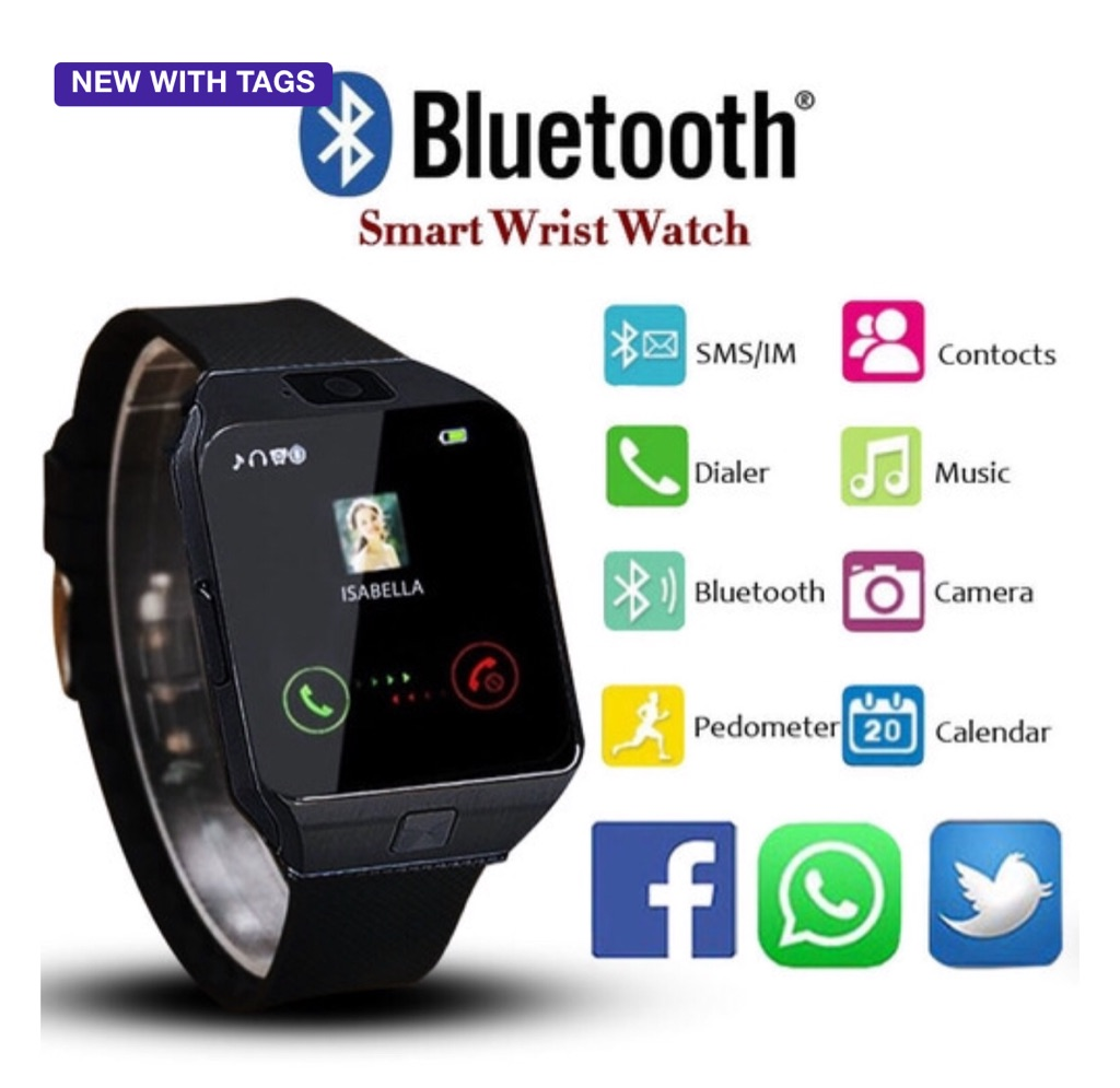 New Smartwatch Support UP to 32GB TF Card,Bluetooth Smart Camera GSM SIM/TF Phone For IOS Android
