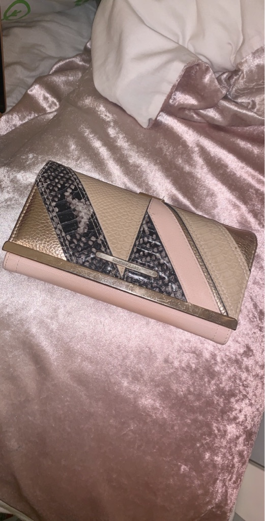 Pink and Rose Gold River Island Purse