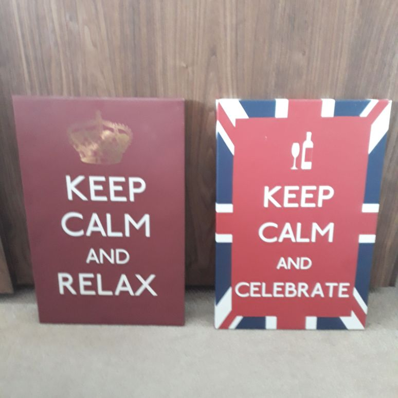 Keep calm canvas pictures