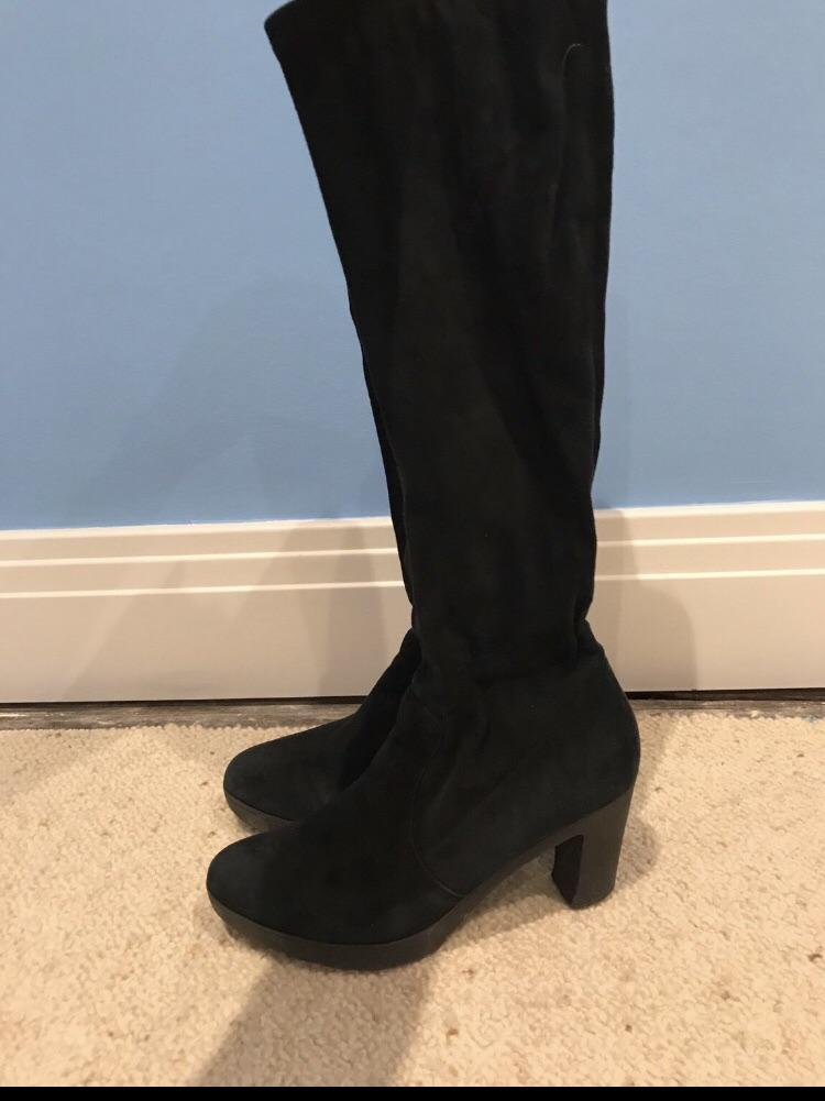 LK BENNETT black suede boots
