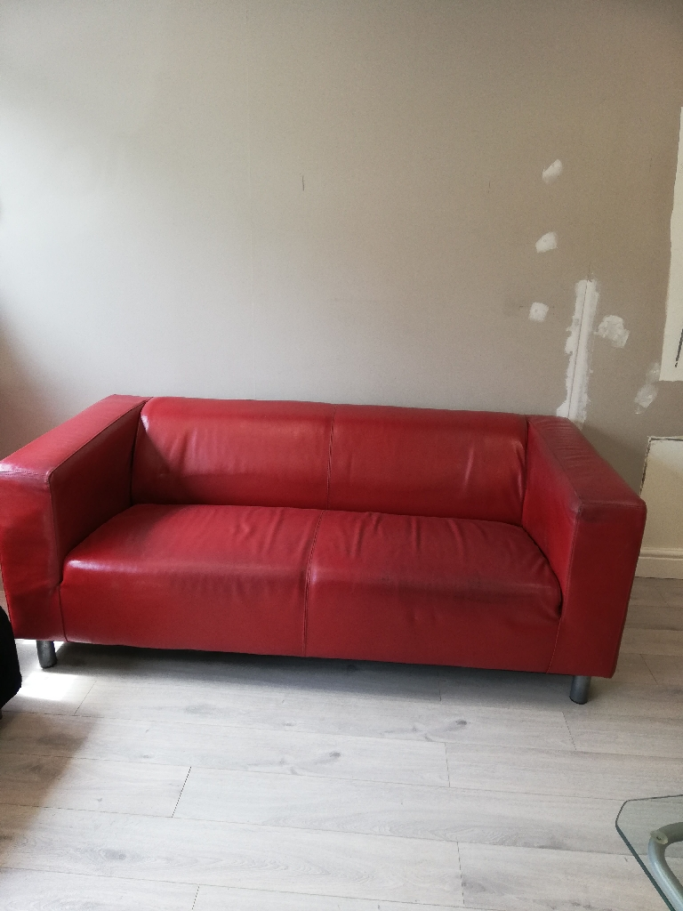 IKEA red couch