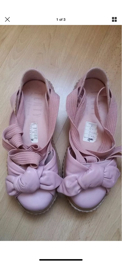 Fenty X Puma Pink Bow Creeper Sandals in UK Size 5.5
