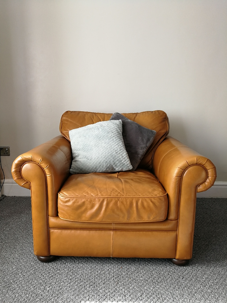 Leather Armchair mustard