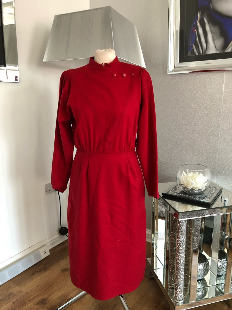 Women's red vintage dress size 12