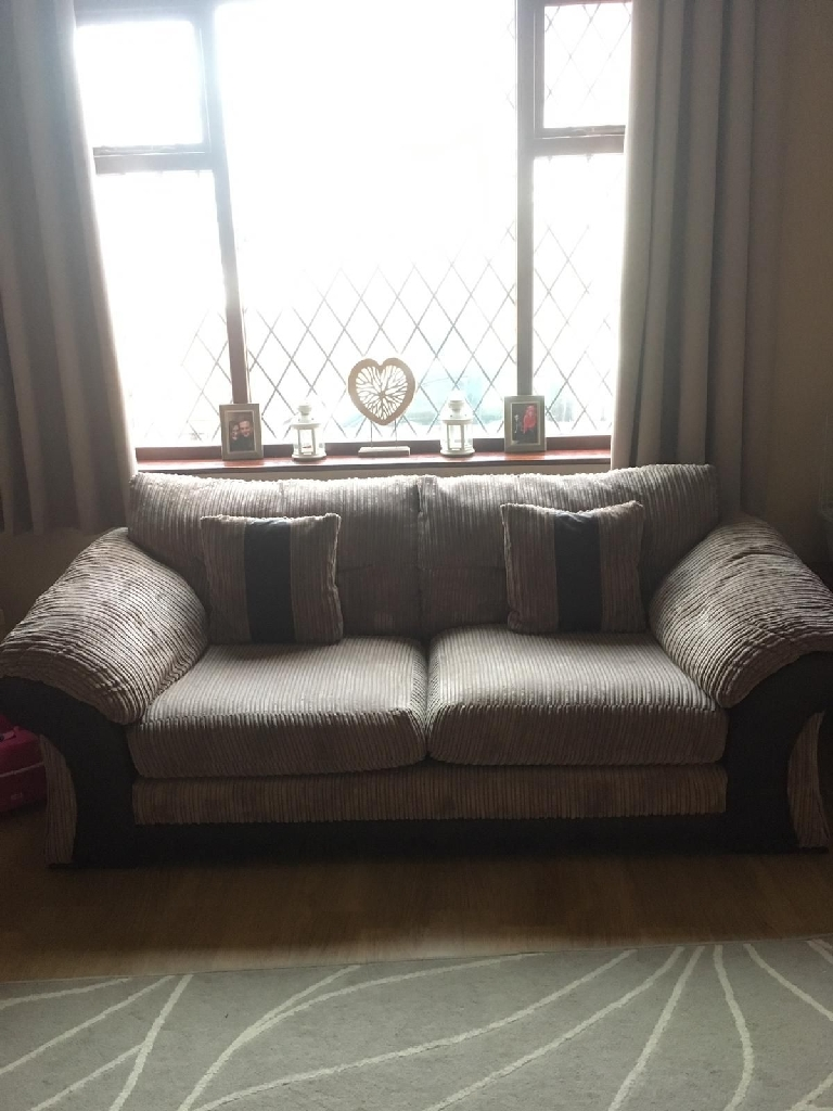 2 dfs 3 seater sofas