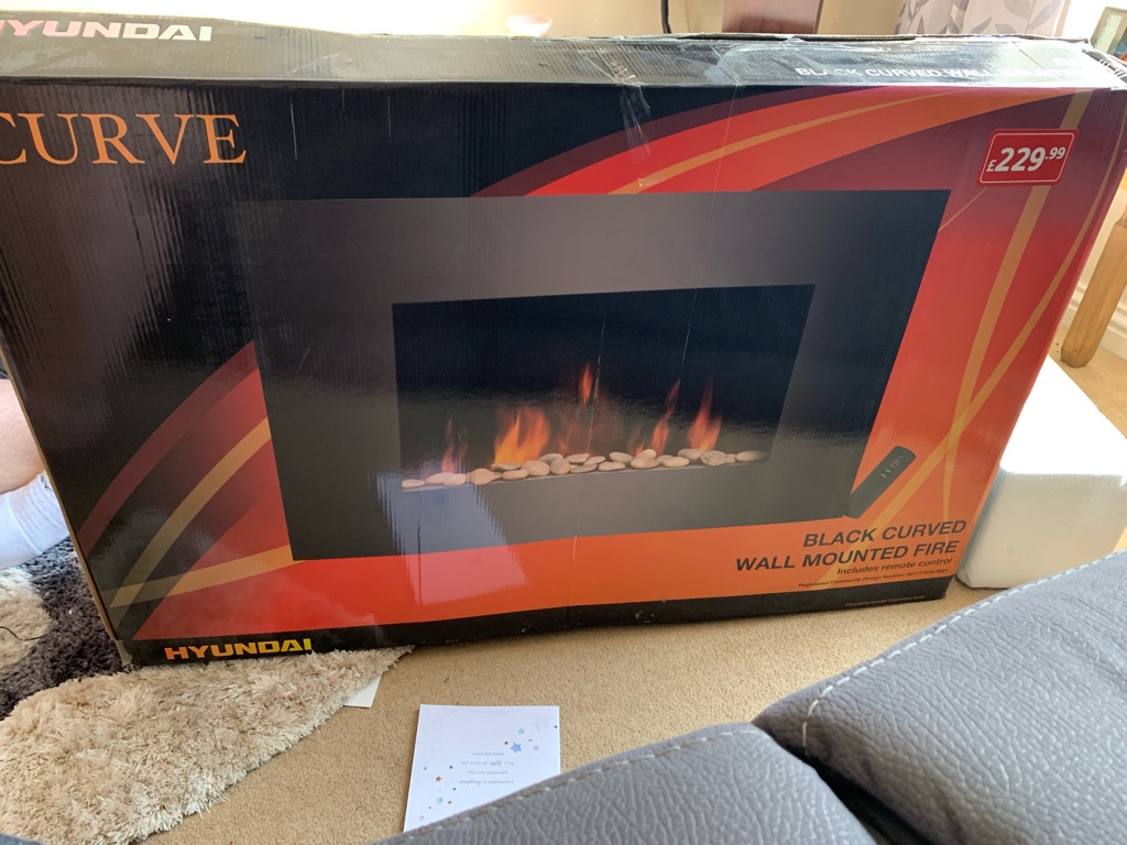 Electric fire with heater