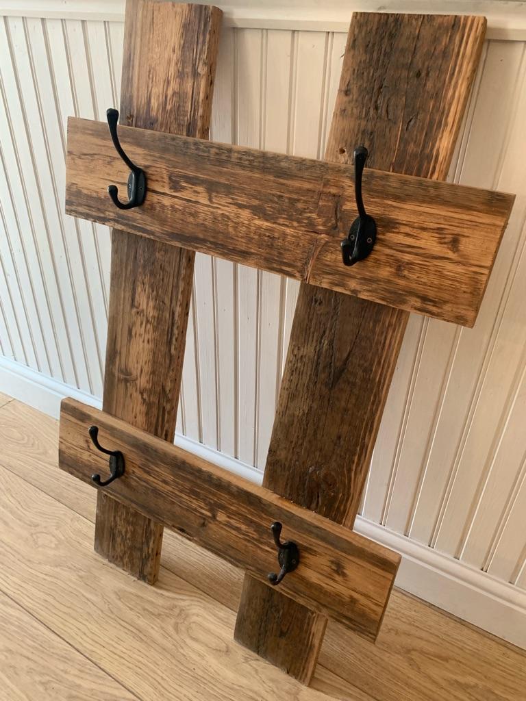 Reclaimed pine coat rack
