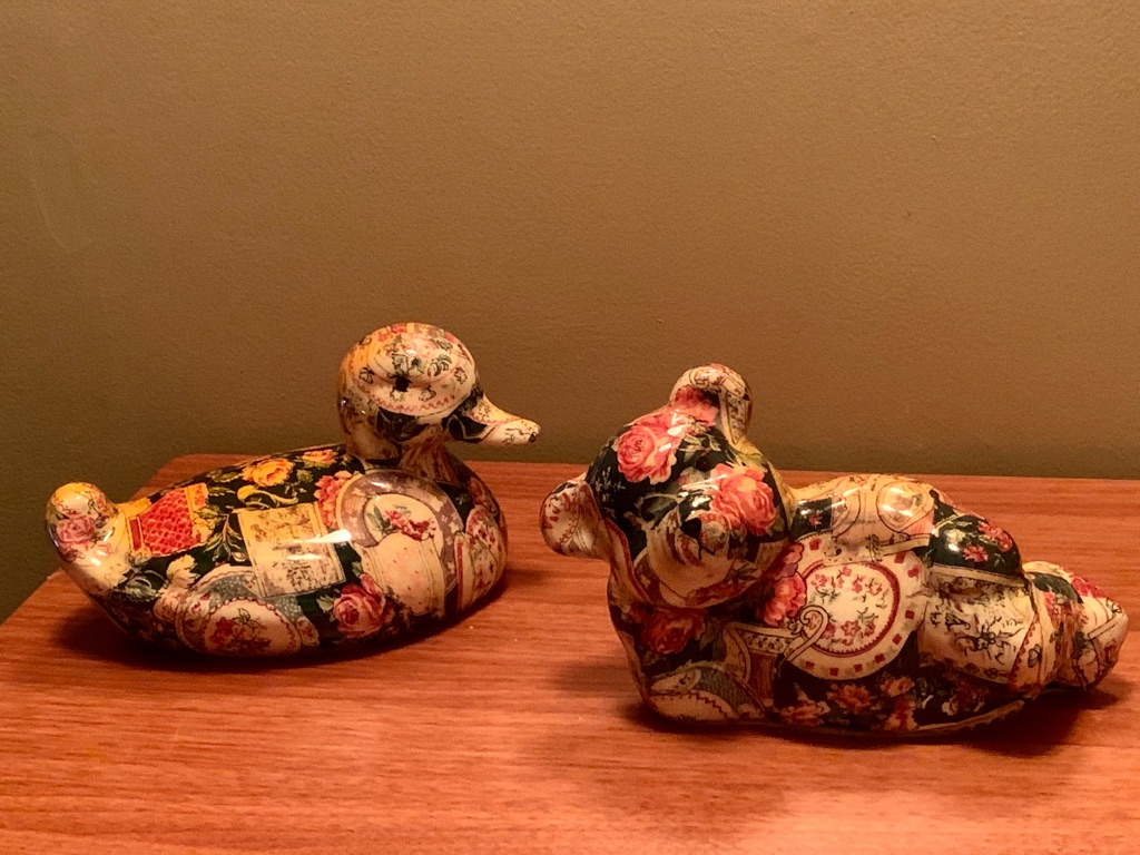 Decorative Porcelain Duck and Bear