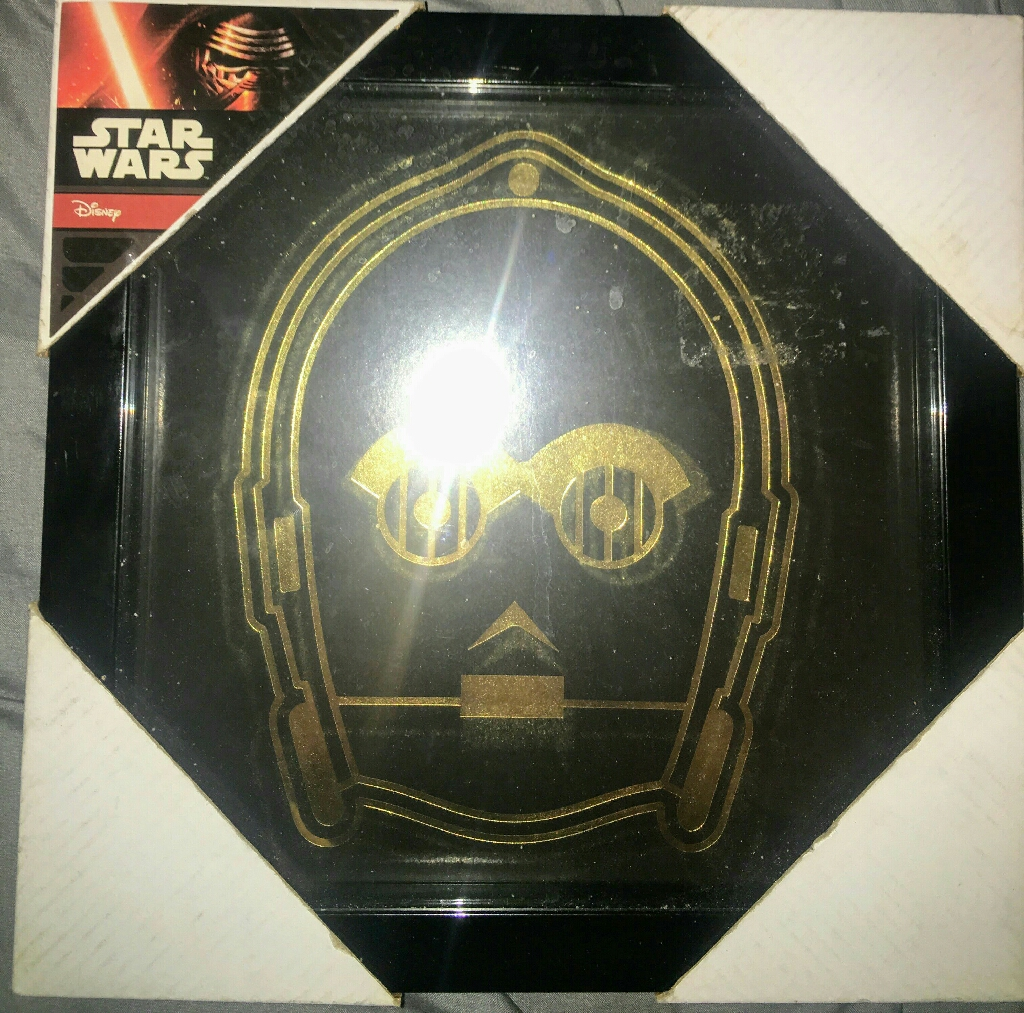 New Star Wars C3P0 Metallic Gold picture in Frame