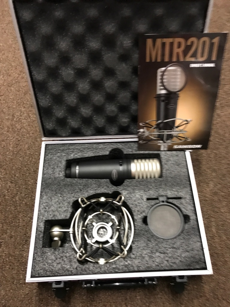 Sampson MTR 201 Condenser Mic with case