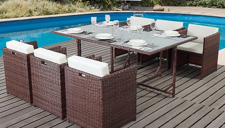 6-Cube Rattan Dining Set was £1299 OFFERS ENCOURAGED free delivery within 10 working days