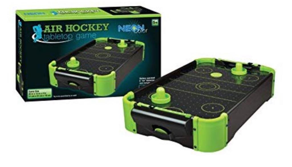 """BNIB Mini Air Hockey Table Colour Neon 20"""" (SALE)"""