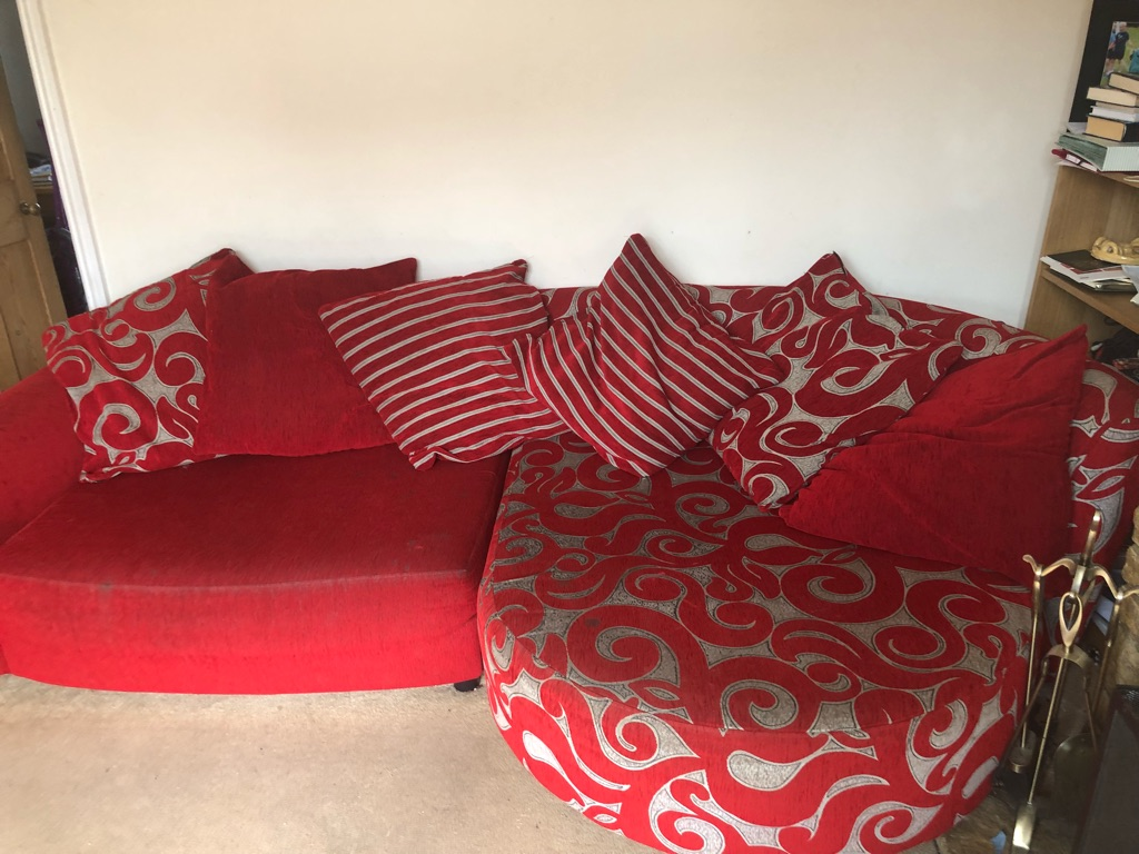 Large Red Sofa