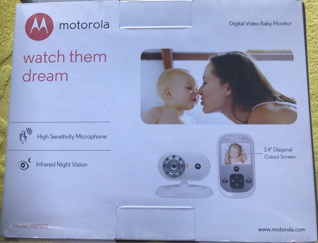 Motorola infrared digital baby monitor