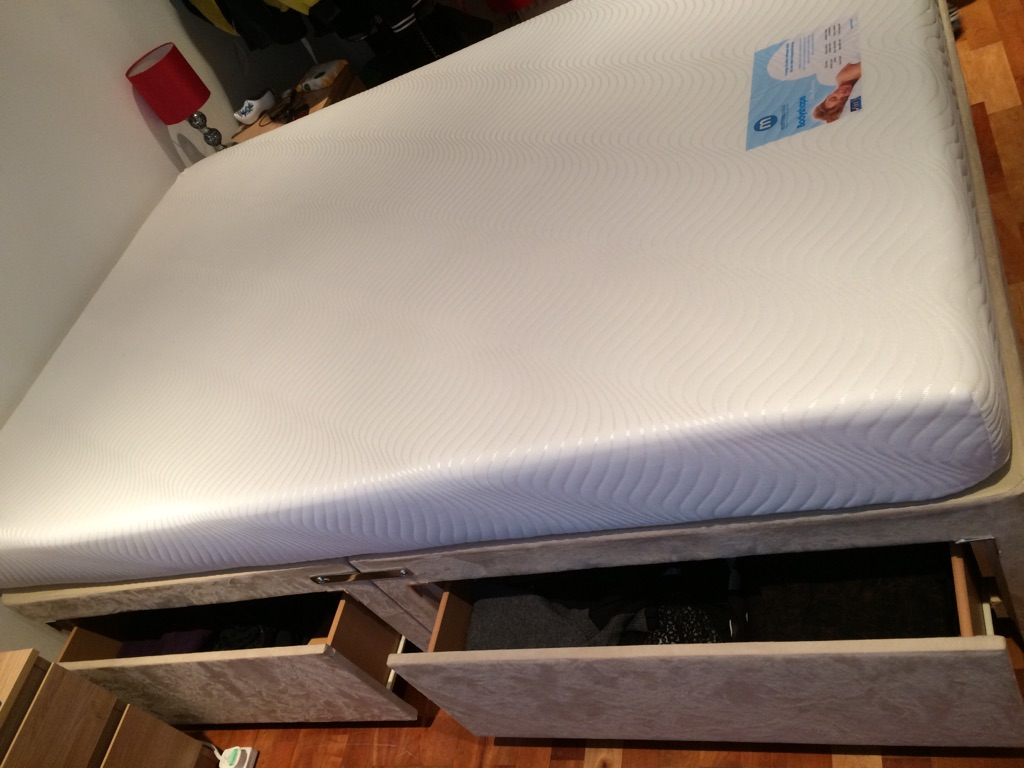 Mattress + bedframe with 4 drawers