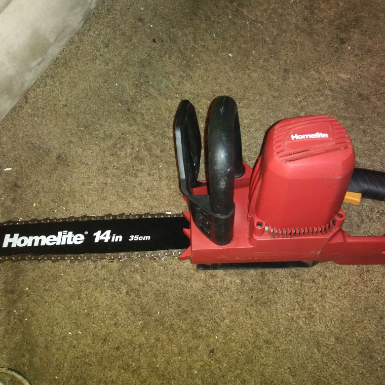 Homelite electric chain saw