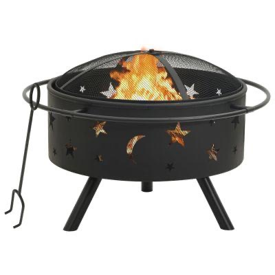 FIRE PIT WITH POKER 76CM STEEL