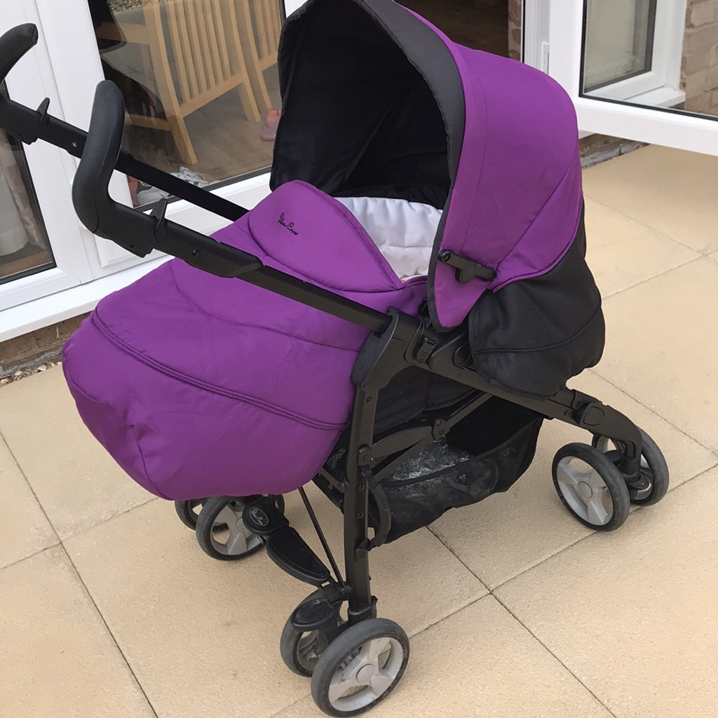 Sliver cross pram / pushchair