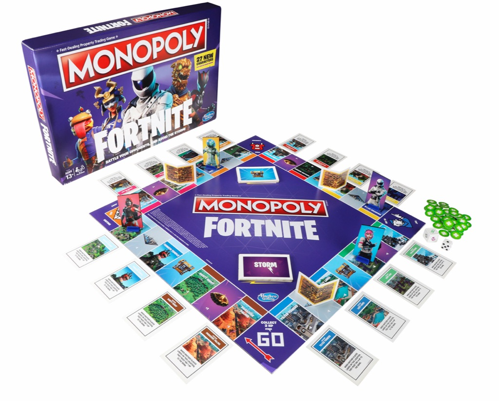 Monopoly fortnite edition board